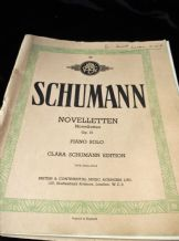 VINTAGE SHEET MUSIC BOOK SCHUMANN NOVELLETTEN PIANO SOLO OP21 ABA45